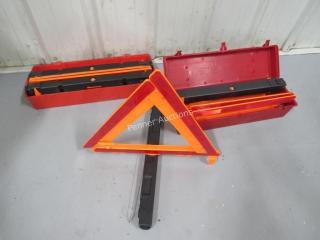Reflective Warning Road Safety Triangle Kit (6)
