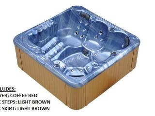 50 Jet Luxury Spa c/w: C. RED Cover, L. BROWN STEP