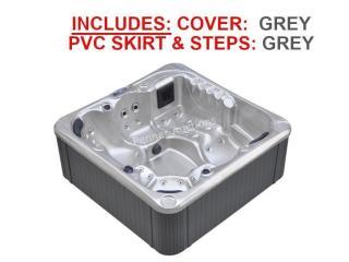 50 Jet Luxury Spa c/w: GREY Cover, GREY STEPS