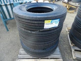 Unused 366 11R22.5 Truck Tires x 2