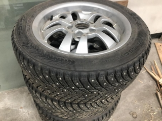 Nokian Studded Winter Tires On 5 Bolt Rims (Must Take 4 Times The Bid Price) UNRESERVED