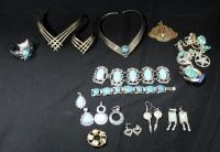 Assorted Southwest Style Jewelry, Includes Bracelets, Earrings, Pendants, And More