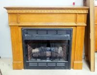 Desa Heating Products Gas Fireplace Insert Model LGFB32C, With Wood Mantle, Approx 51