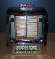 Vintage Seeburg Wall-O-Matic Diner Tabletop Jukebox, No Key