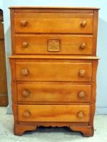 Wood 5-Drawer Chest Of Drawers, 1 Drawer With Maple Leaf Design On Front, 47