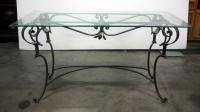 Glass Top Table With Metal Base, 28