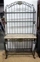Wrought Iron And Marble Tiled Baker's Rack, 74