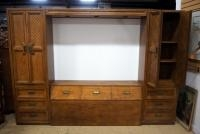 Huntley By Thomasville Bedroom Set, Headboard With Storage, Overhead Lighting, Cabinets On Each Side...