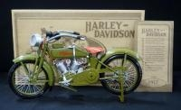 1917 Harley Davidson 1:6 Scale Diecast 3-Speed V-Twin Model F, In Box, With COA