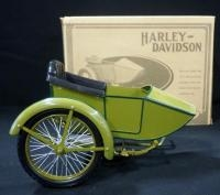 1917 Harley Davidson 1:6 Scale Diecast Side Car For The 3-Speed V-Twin Model F, In Box