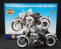 Franklin Mint 1958 Harley Davidson Duo-Glide With Sidecar 1:10 Scale, In Box