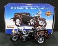 Franklin Mint 1947 Harley Davidson Servi-Car 1:10 Scale, In Box