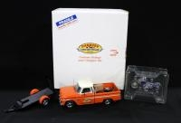 Danbury Mint Custom 1966 Pickup And Chopper Set, Includes Pickup Truck, Trailer, And Motorcycle