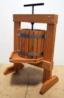Wood Wine Press Built From Kit, Oak Drum With Stainless Screws And Bands, Includes Pressing Bags