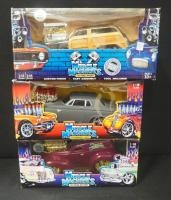 Muscle Machines 1:18 Scale Diecast, Includes '40 Sedan Delivery, '63 Plymouth Savoy, And '50 Ford Wo...