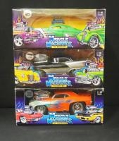 Muscle Machines 1:18 Scale Diecast, '49 Mercury, '56 Olds 88 And '69 Camaro