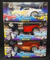 Muscle Machines 1:18 Scale Diecast, '29 Pickup, '32 Roadster, '66 Mustang