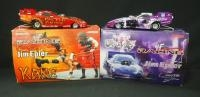 Two Action 1:24 Scale Diecast Jim Epler Funny Cars, Includes WWF/Undertaker 2000 Pontiac And WWF/Kan...