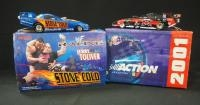 Two Action 1:24 Scale Diecast Funny Cars, Jerry Toliver WWF/Stone Cold 2000 Camaro And WWF/ XXL 2001...