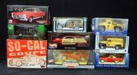 Collection Of '30s, '50s And 60's Diecast Cars, 1:24 And 1:18 Scale, See Description For List Of Car...
