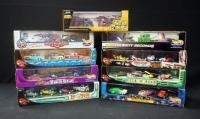 Collection Of Diecast Diorama Car Sets, Qty 9