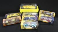 Collection Of Diecast Diorama Truck and Trailer Sets, And Custom Crew Mooneyes