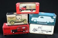 Collection Of Diecast Metal Banks And More, See Description For List Of Cars, Qty 5