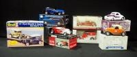 Collection Of 1:25 Scale Diecast Street/ Hot Rods And Revell '31 Ford Model A Sedan Hot Rod Model Ki...