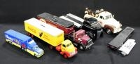 Collection Of Diecast Trucks Of Various Scales And More, See Description For Details, Qty 6