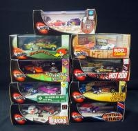 Collection Of 2 Car Sets, Includes Hot Wheels, Psychedelic Relics, Wild Wood, And More, Total Qty 9