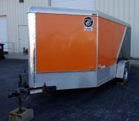 2009 Classic CVT2483TE Enclosed Trailer With Drop Down Door / Ramp, Side Door, Approx 16' L, Harley...