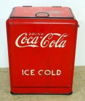 Vintage Metal Coca-Cola Insulated Ice Chest/ Cooler 34.5