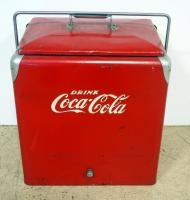 Vintage Metal Coca-Cola Insulated Ice Chest/ Cooler, With Removable Tray Insert, 19