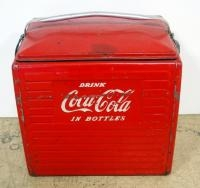Vintage Metal Coca-Cola Insulated Ice Chest/ Cooler, With Removable Tray Insert, 17
