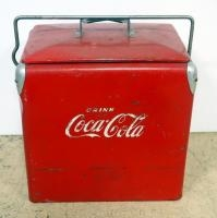 Vintage Metal Coca-Cola Insulated Ice Chest/ Cooler, With Attached Bottle Opener 18