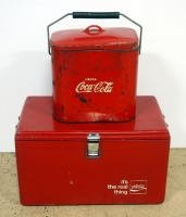 Vintage Metal Coca-Cola Insulated Ice Chest, 13