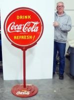 Vintage Coca-Cola Double- Sided Advertising