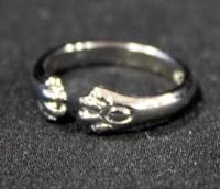 Sterling Silver Ring, Size 6, With Animal Paw Design