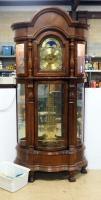 Ridgeway Great Grandfather Illuminated 30-Day Curio Clock With Manual, Powers On, No Key