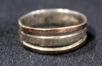 18k Gold And Platinum Ring, Size 7