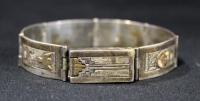 Antique Sterling Silver Bracelet With Southwest Inspired Design
