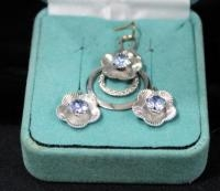 Sterling Silver Pendant And Earring Set