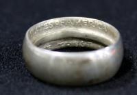Franklin Silver Half Dollar Ring, Size 7