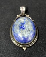 Antique Pendant With Blue Stone