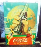Metal Coca-Cola Advertising Sign, 23