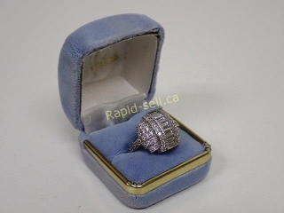 Glamorous Sterling Silver Cocktail Ring