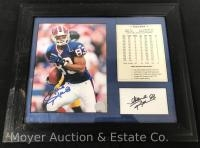 Signed Andre Reed Photo/Stats Double Signatures 14x17