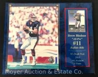 "Drew Bledsoe ""All Pro"" Plaque and Player Card 12""x15"""