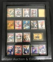 Group of 19 Buffalo Bills Signed Trading Cards, With Display Case