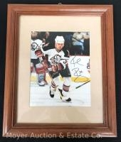 Rob Ray Buffalo Sabres Autgraphed Photograph, framed 13x16